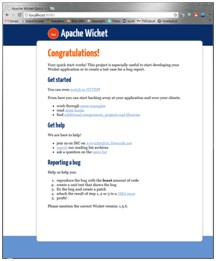 Wicket quickstart running