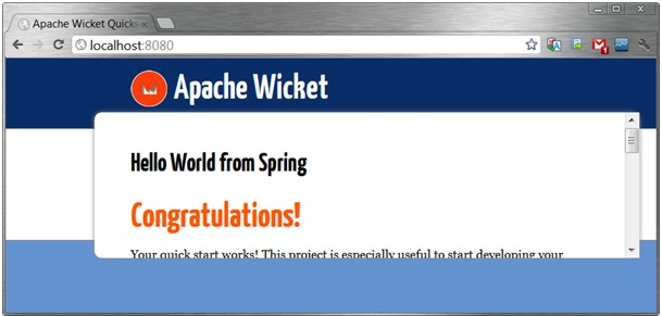 Wicket with Spring integrated